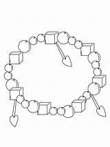 Coloring Bracelet Armband Pagina Dekorative Kleurende Decoratieve Decorativa Braccialetto Coloritura Decorative Ausmalbilder Malvorlagen Zum Bambini Beads Kinder sketch template