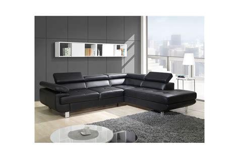 fauteuil de bureau solde canapé design d 39 angle studio cuir pu noir canapés d
