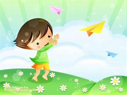 Children Wallpapers Cartoon Wallcoo Childrens Vector Happy