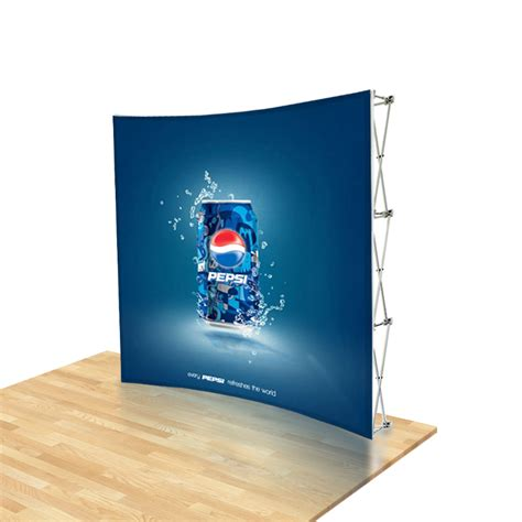 Backdrop Display by 8ft Urge Curved Tension Fabric Pop Up Backdrop Display