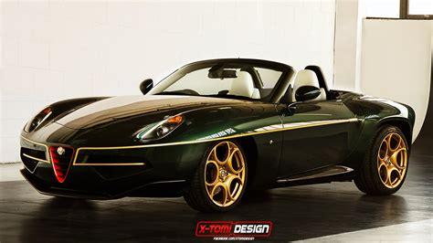 Alfa Romeo Disco Volante Spider Green And Gold Alfa Romeo Disco Volante Spider Imagined