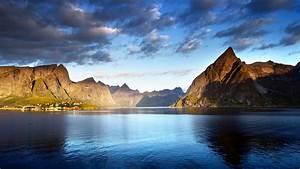 Wallpaper, Norway, Lofoten, Islands, Europe, Mountains, Sea, Clouds, 5k, Travel, 16596