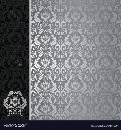 Black And Silver Background Black And Silver Background Royalty Free Vector Image