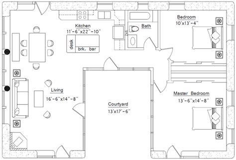 Ushaped House  Earthbag House Plans