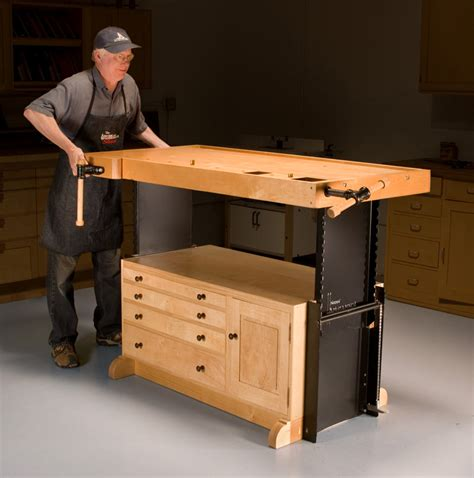 adjustable workbench popular woodworking magazine
