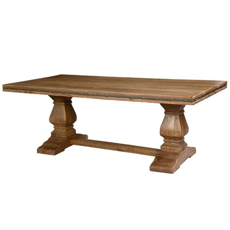 dining table pedestal base rustic solid wood trestle pedestal base harvest dining table