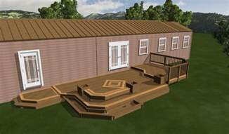 Mobile Home Deck Ideas Pictures by Mobile Home Deck Design Plan Showing Taupe Rooftop