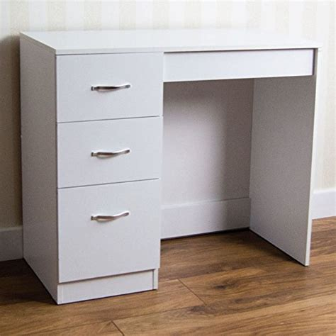 cheap desk with drawers buy home discount white 3 drawer dressing table makeup