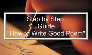How To Write A Good Poem  U2013 Step By Step Guide