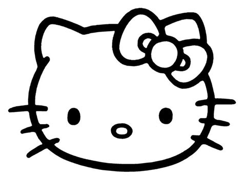 kitty face hellokitty coloring pages