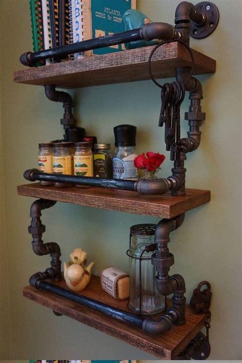 amazing  diy industrial pipe shelves crafts  diy ideas
