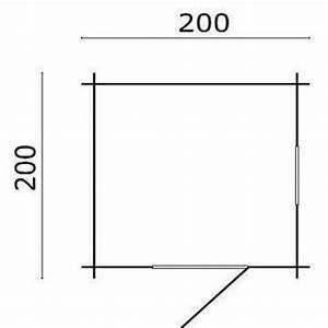 200 Mm En Cm : blokhut argo 200 x 200 cm ~ Dailycaller-alerts.com Idées de Décoration