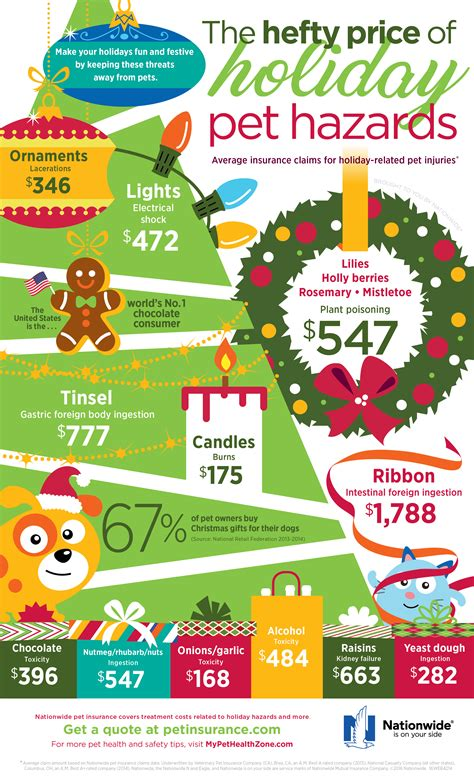 holiday pet hazards infographic