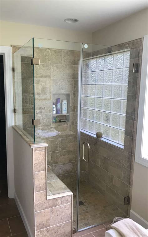 Glass Shower Enclosure by Custom Shower Doors Made Installed Century Glass
