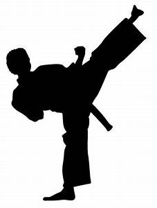 Silhouette Karate - ClipArt Best