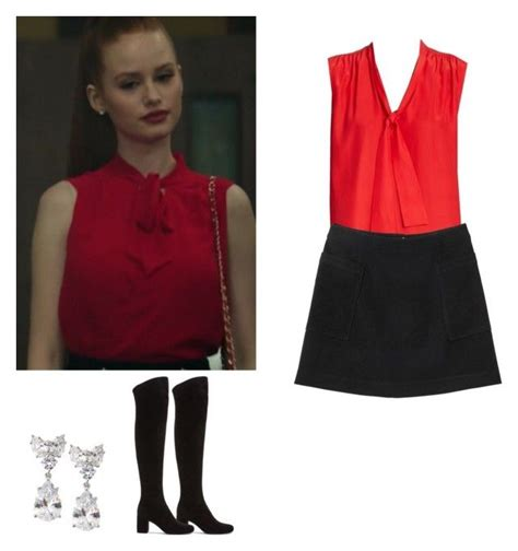 U0026quot;Cheryl Blossom outfit with a skirt and knee boots - riverdaleu0026quot; by shadyannon liked on Polyvore ...