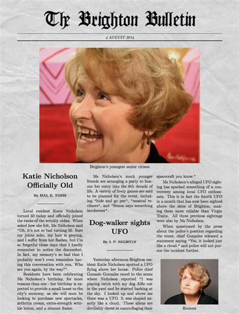 funny newspaper generator    picture
