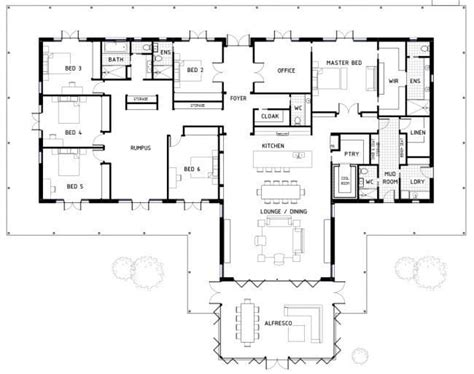 Six Bedroom House Plans by Awesome Six Bedroom House Plans New Home Plans Design