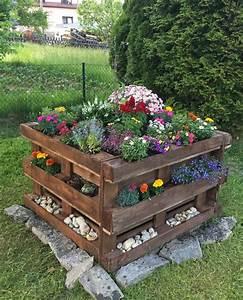 Hochbeet Blumen Bepflanzen : palettenhochbeet mit blumenbepflanzung palette beet europaletten garten und ~ Watch28wear.com Haus und Dekorationen
