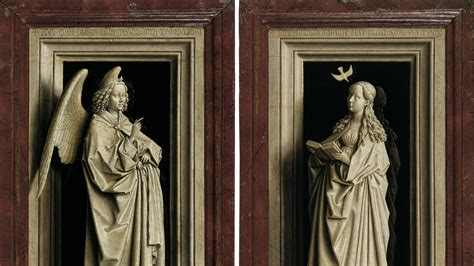 ghent wing the annunciation diptych eyck jan museo nacional