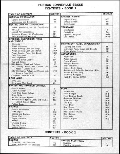 free car repair manuals 1987 pontiac bonneville instrument cluster 1994 pontiac bonneville repair shop manual original set with se sse ssei