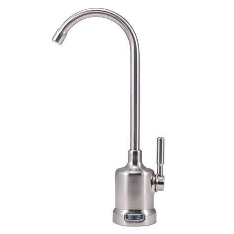 watts 1 handle top mount air gap faucet in brushed nickel