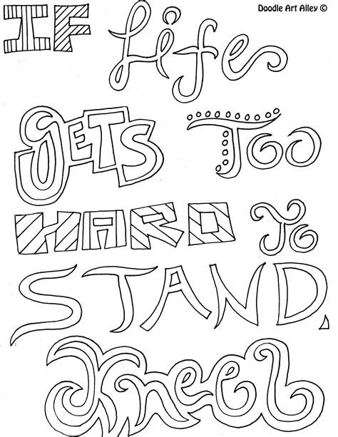 Free Coloring Quotes by Http Www Doodle Alley Colouring Pages