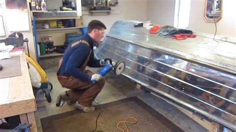Sanding Aluminum Boat For Painting by How To Aluminum