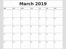 March 2019 Calendar Word – printable calendar templates