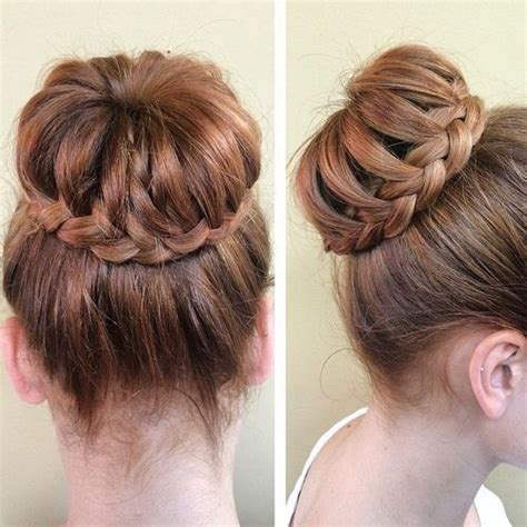 hairstyle pic  braided buns  inventing  classic style