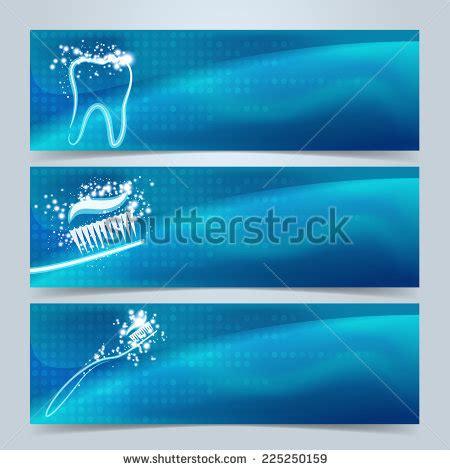 dental banners website header set tooth stock vector