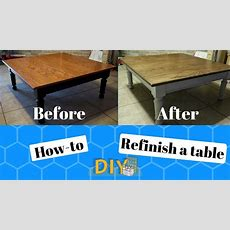 How To Refinish A Table  Diy  Before And After  Youtube