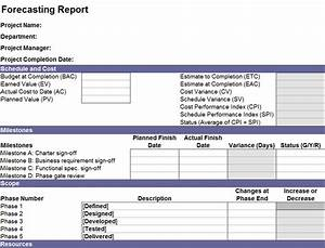 financial forecast report financial forecast template With project forecasting template