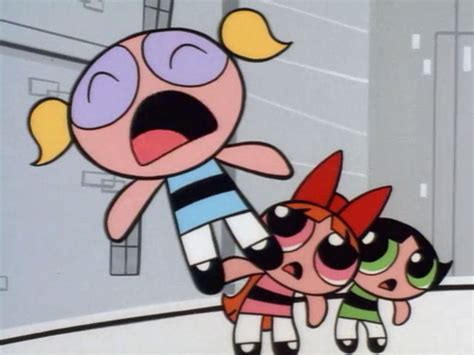 Image  Bubbles Screaming; Blossom & Buttercup Are Shocked