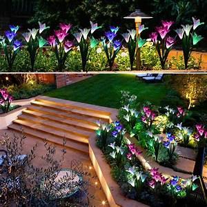 Led, Light, Up, Garden, Flowers