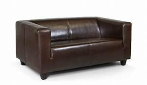 Schlafsofa 2 Personen : b famous 2 sitzer sofa kuba 149 x 88 cm glanzleder braun ~ Whattoseeinmadrid.com Haus und Dekorationen