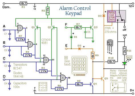Wiring Schematic Diagram Digit Alarm Control Keypad