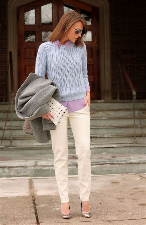 pants khaki wear sweater spring outfit ways street dress womens khakis nice looks pastels early sweaters winter pant penny glamour