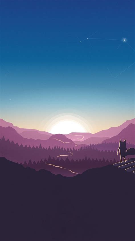 wallpaper forest sunset fox  abstract