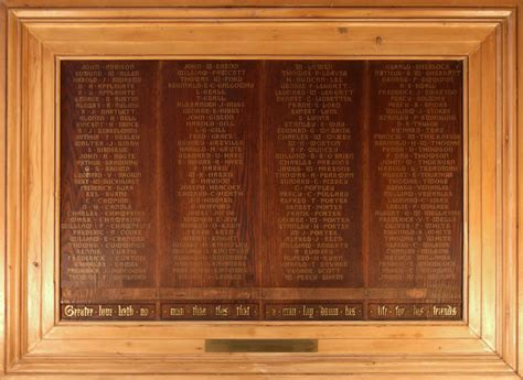 st marys tower memorial boards