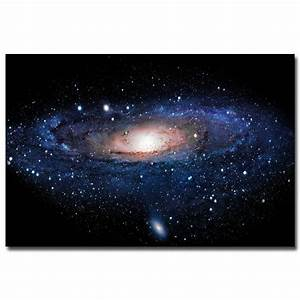 Outer Space Galaxy Stars Nebula Landscape Silk Poster ...