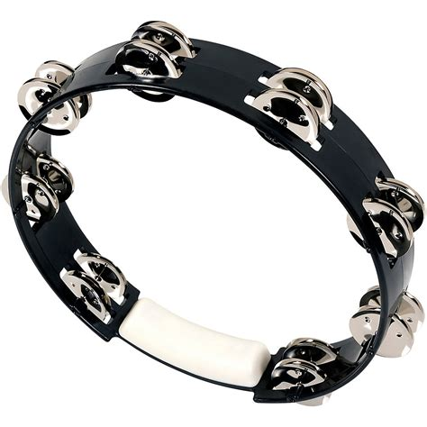The tambourine is a musical instrument in the percussion family consisting of a frame, often of wood or plastic, with pairs of small metal jingles, called zills. RhythmTech True Colors Tambourine Black 10 in ...
