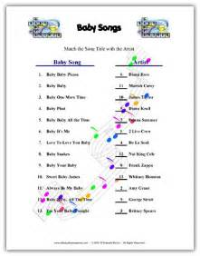Free Printable Baby Shower Games Songs