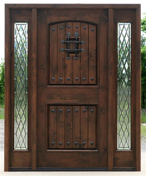 doors with sidelights popular exterior rustic doors with 2 sidelights