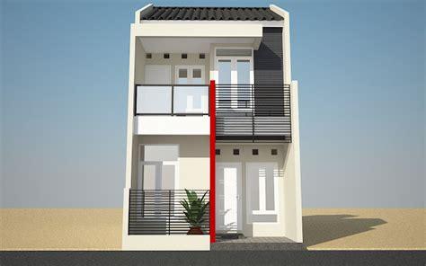 tampak depan rumah minimalis  lantai  desain rumah
