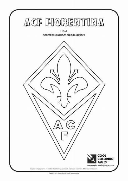 Coloring Pages Cool Soccer Fiorentina Logos Acf
