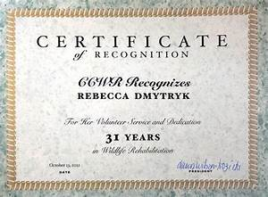 wildrescue39s blog reunite wildlife With certificate for years of service template
