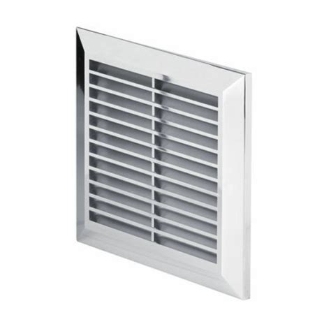 chrome air vent grille mm  mm  mm flange