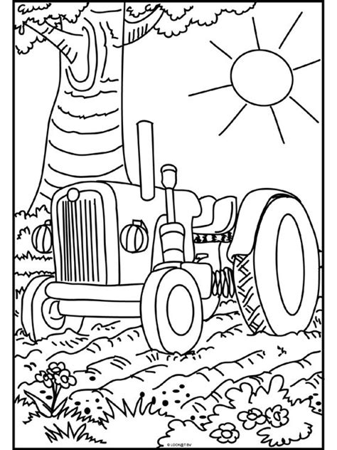 Kleurplaat Tractor Met Ploeg by Kleurplaat Tractor Kleurplaten Tractor