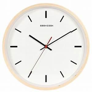 Horloge Murale Silencieuse : horloge murale silencieuse en bois achat vente horloge ~ Melissatoandfro.com Idées de Décoration